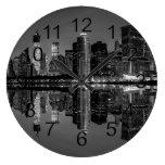 Photo of the New York City Skyline Landscape Large Clock