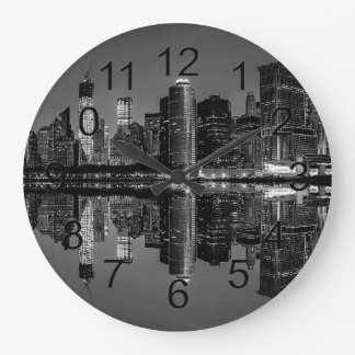 Photo of the New York City Skyline Landscape Large Clock