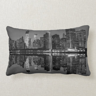 Photo of the New York City Skyline Landscape Lumbar Pillow