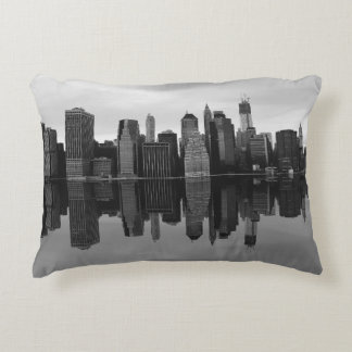 Photo of the New York City Skyline Landscape Accent Pillow