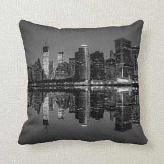 Photo of the New York City Skyline Landscape Pillow