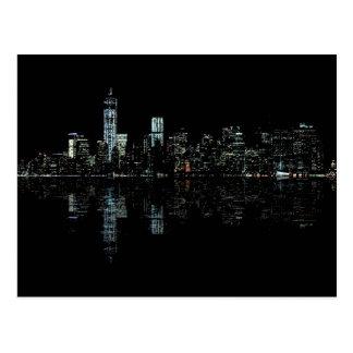 Photo of the New York City Skyline Landscape Postcard