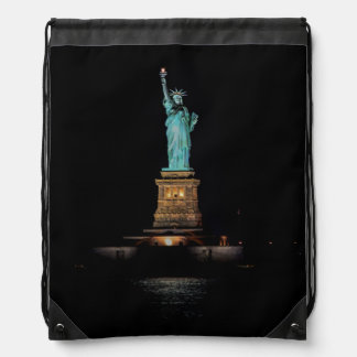 Photo of the Statue of Liberty in NYC Drawstring Backpack