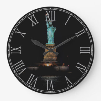 Photo of the Statue of Liberty in NYC Large Clock