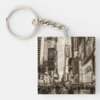 Photo of Times Square in New York City Key Chains