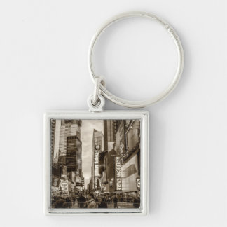 Photo of Times Square in New York City Keychain