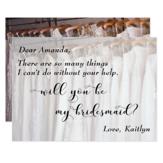 Photo of Wedding Gowns, Will You Be My Bridesmaid? Card