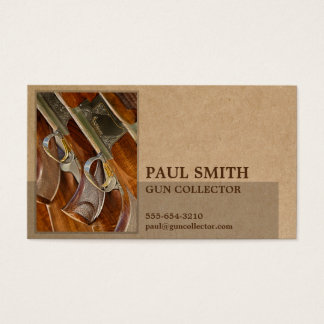 Photo on Recycled Paper-Look Geometric Masculine Business Card