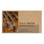Photo on Recycled Paper-Look Geometric Masculine Double-Sided Standard Business Cards (Pack Of 100)