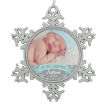 Photo Ornament   Baby Boy First Christmas