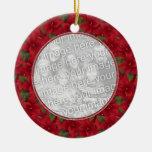 Photo Ornament - Holiday Poinsettia