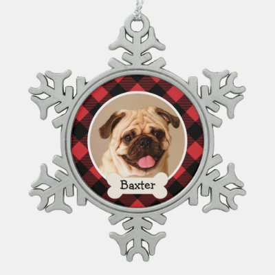 Photo Ornament   Personalized Puppy Dog
