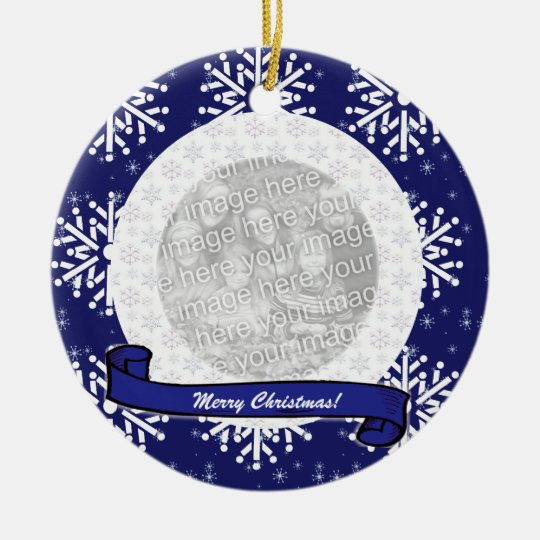 Photo Ornament - Snowflakes
