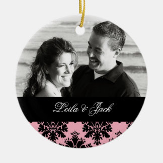 Photo Ornament with Romantic Damask Design