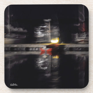 Photo passe-partout mounting abstracted, boats beverage coaster