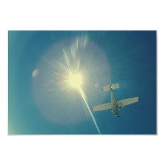 photo perfect small plane pilot 3.5x5 paper invitation card