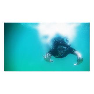 photo perfect snorkeler business card