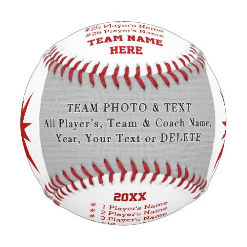 Photo Personalized Baseball Gifts for Coach Ball