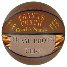 Photo Personalized Best Gifts For Basketball Coach at Zazzle