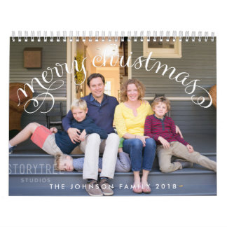Photo Personalized Calendars 2018 Merry Christmas