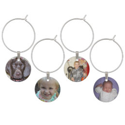 Photo Personalized Custom Wine Charms