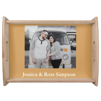 Photo Personalized Wood Serving Tray