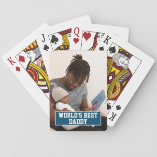 Photo Personalized Worlds Best Daddy Fathers Day Playing Cards