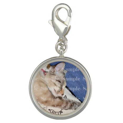 Photo pet memorial loss PERSONALIZE Charm