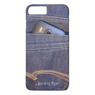 Photo Phone in demin jeans pocket monogram name iPhone 8 Plus/7 Plus Case