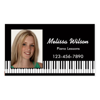 Photo Piano Business Card