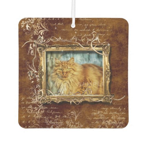Photo picture frame  Pet tribute custom Air Freshener