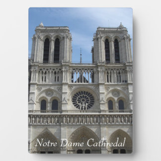 Photo Plaque--Notre Dame Cathedral Plaque