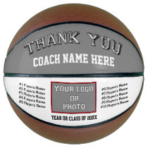 Photo, Player's Names Basketball Coach Gift Ideas