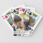 "Photo Playing Cards<br><div class=""desc"">Add your favorite engagement or wedding photo and make a unique gift with this cute playing cards set. Lovely as favor or first wedding anniversary gift.</div>"