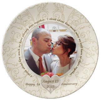 Photo Porcelain Anniversary Plate to Special Order