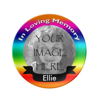 Photo Porcelain Plate Rainbow In Memory Of