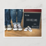 Photo Pregnancy Announcement with Chalkboard Sign