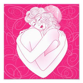 Photo print Love's embrace