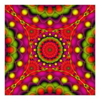 Photo Print Mandala Psychedelic Visions