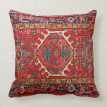 "Photo print: of Antique Oriental Turkish Carpet Throw Pillow<br><div class=""desc"">This is a photo print from a beautiful vintage Turkish or Persian rug in its original colors. The pattern woven into the original antique carpet is in the traditional warm colors used for these handmade rugs, with reds and scarlets dominating, and gold and duck-egg blue supporting. The reverse side repeats...</div>"