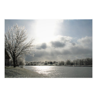 photo print of icy winter landscape