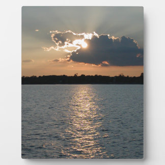 Photo print of silver lining sunset plaque