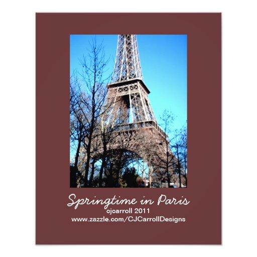 Photo-Print Paris Theme: Springtime in Paris