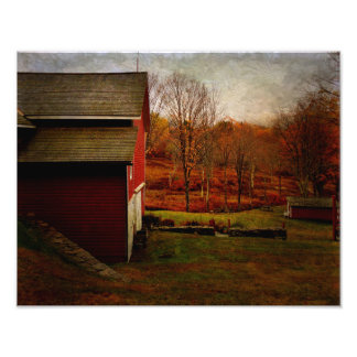 Photo Print-Red Barn Resting