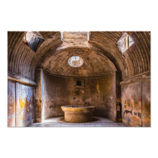 Photo Print - Roman Baths - Ancient Pompeii, Italy