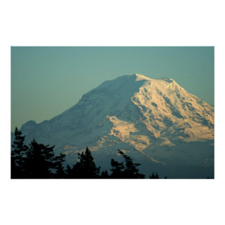 Photo print:  Winter Mt. Rainier Poster