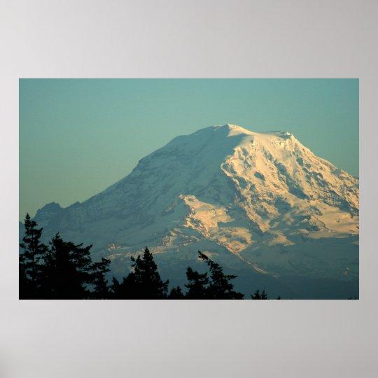 Photo print:  Winter Mt. Rainier Poster