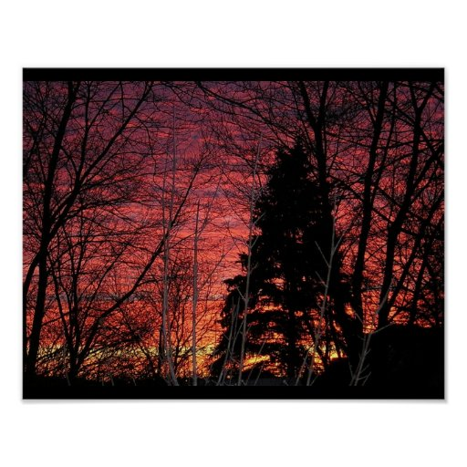 Photo Print with Matte Finish - Winter Sunset