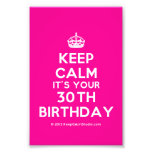 [Crown] keep calm it's your 30th birthday  Photo Prints
