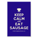 [Chef hat] keep calm and eat sausage  Photo Prints